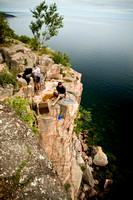 Rock Climbing: Shovel Point, North Shore, Minnesota